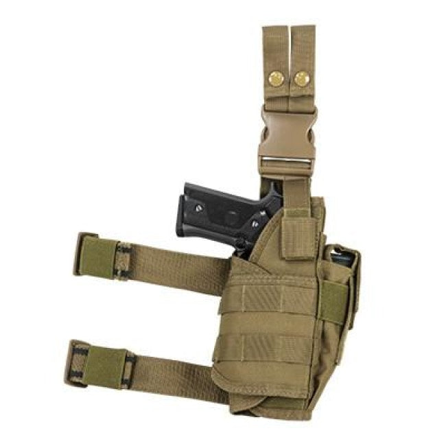 Universal Tactical Drop Leg Holster - Tan (2955) - Holsters And Scabbards - Vism - Colonel Mustard