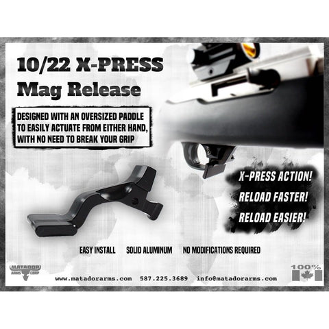 X-Press - Ruger 10/22 Magazine Release - Accessories/tools - Matador Arms Corp - Colonel Mustard