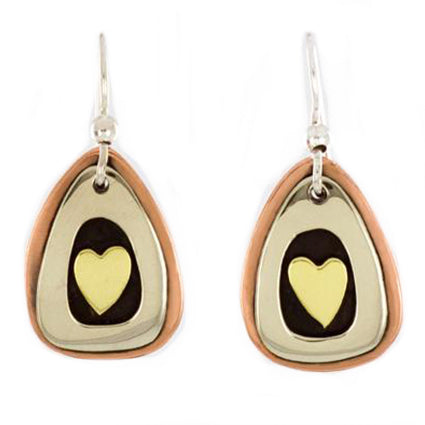 Framed Heart Dangles