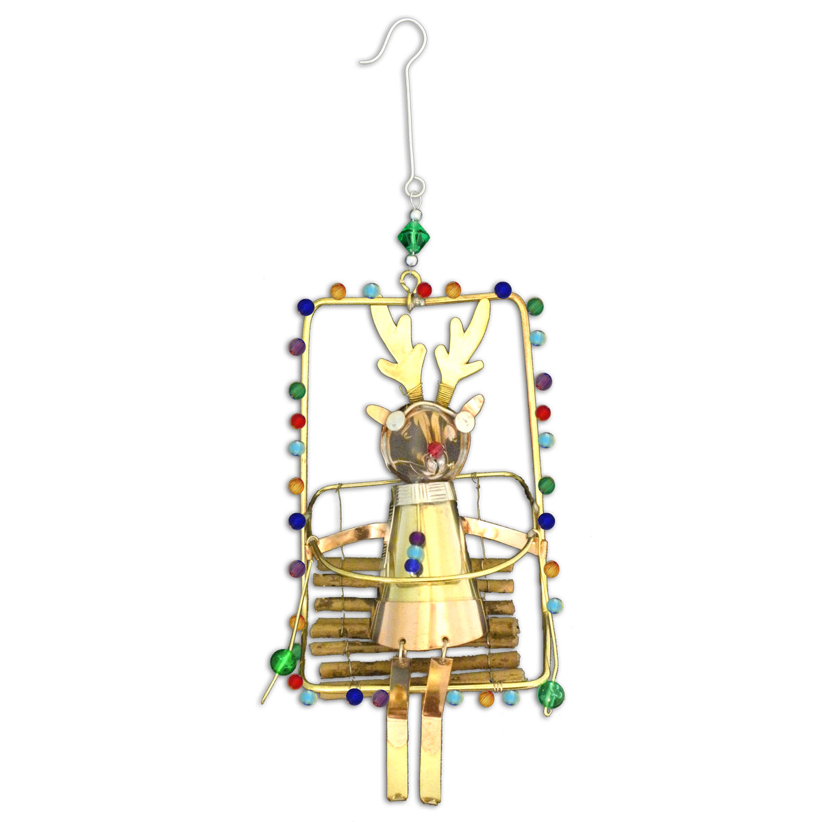 Ski Lift Reindeer Ornament