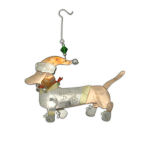 Dasher Dachshund Ornament