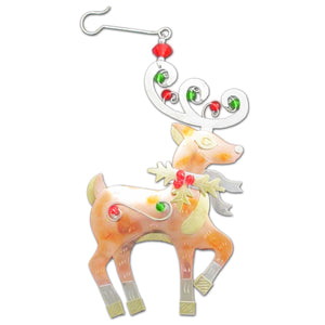 Holly Reindeer Ornament