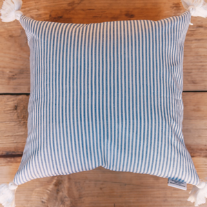 Atitlán Blue Stripe Pillow