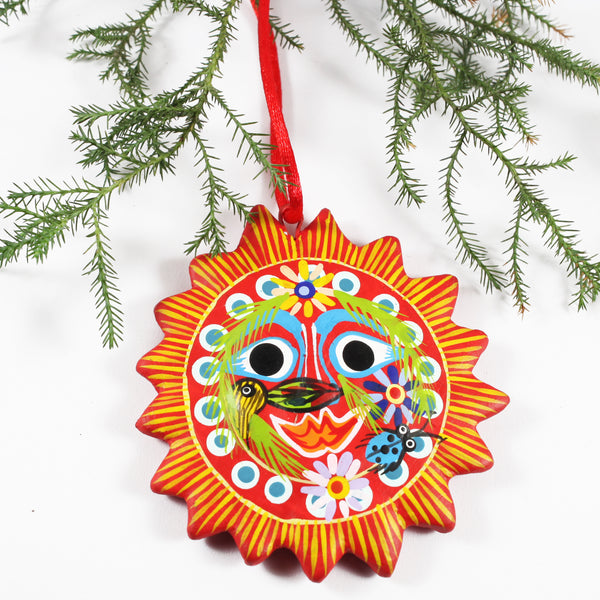 Ceramic Sun Ornament