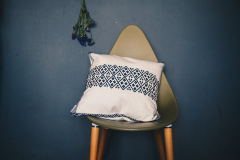 Blue Diamonds Pillow