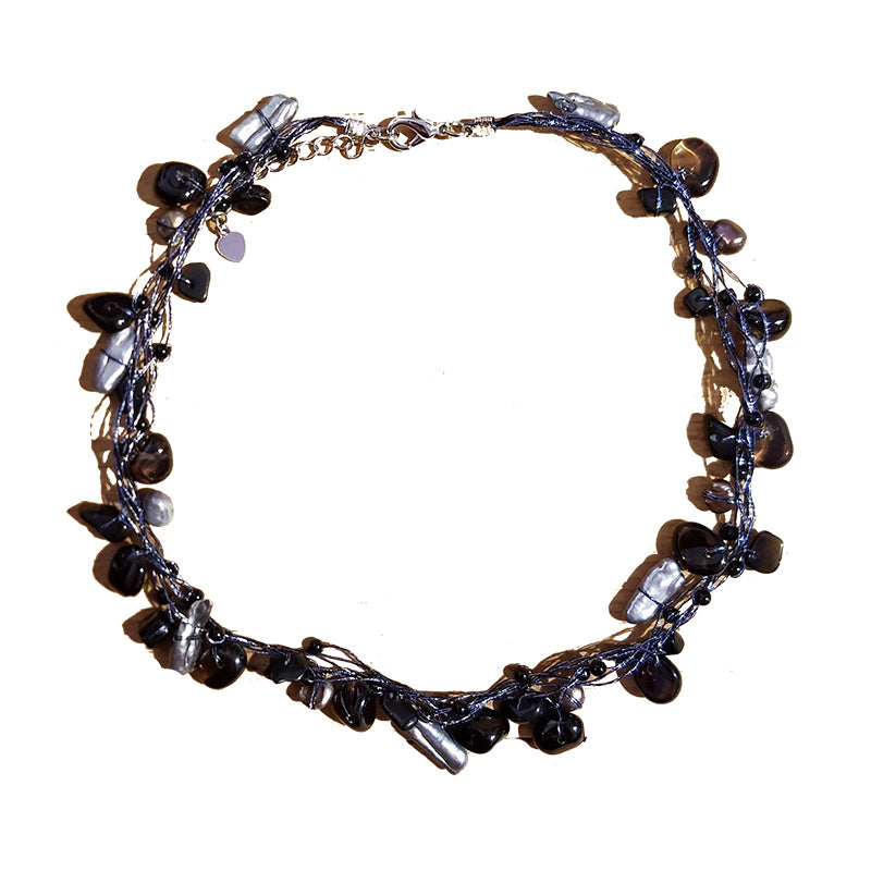 Prudence Pearls & Stones Choker Necklace