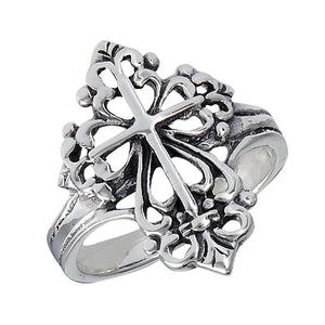 Sterling Silver Victorian Cross Ring