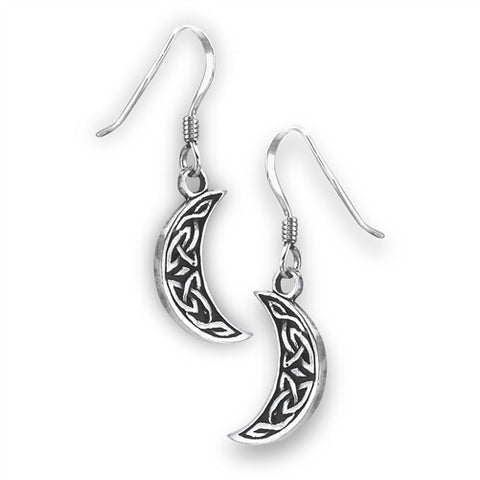 Celtic Half Moon Earrings