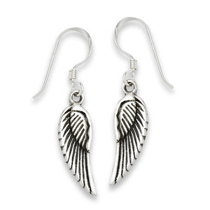 Sterling Silver Small Wings Earrings