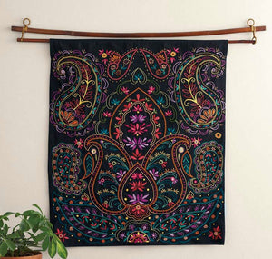 Bright Paisley Wall Hanging