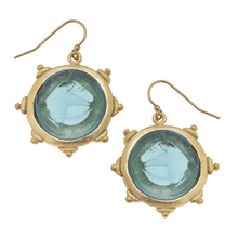 Load image into Gallery viewer, Venetian Glass Horse Head Intaglio Earrings