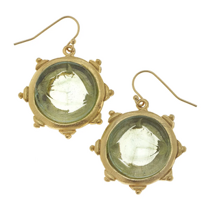 Venetian Glass Horse Head Intaglio Earrings