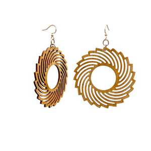 Spiral Bamboo Earrings