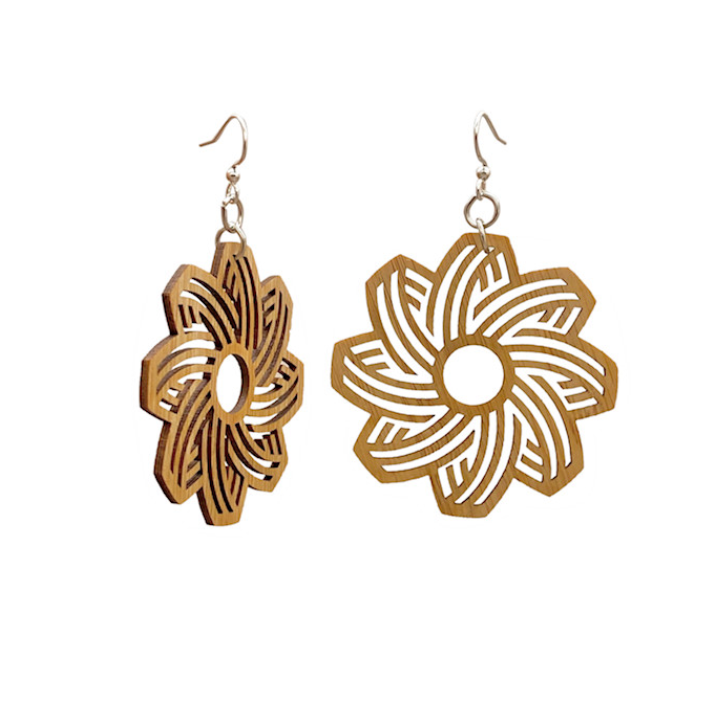 Floral Bamboo Earrings