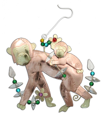 Momma & Baby Chimp Ornament