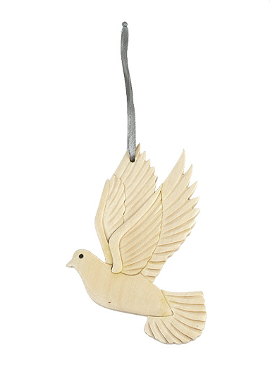 Dove Wooden Ornament