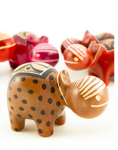 Assorted Mini Soapstone Hippos