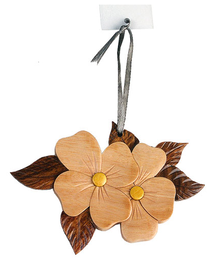 Dogwood Wooden Ornament