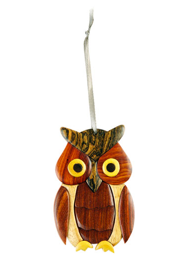 Owl Wooden Ornament