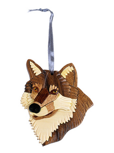 Wolf Wooden Ornament