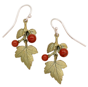 Goose Berry Small Leaf Wire Earring