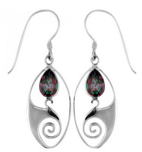Mystic Topaz Silver Dangle
