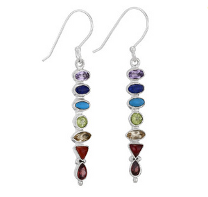 7 Stone Chakra Earrings