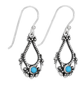 Open Turquoise Dangle Earrings