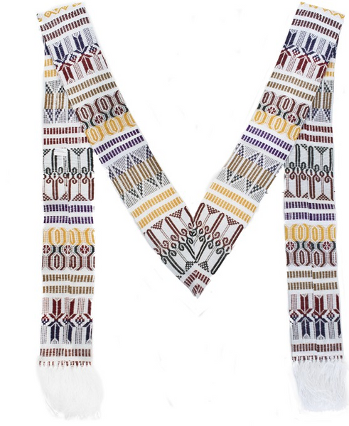 Guatemalan Brocaded Clerical Stole by UPAVIM Crafts