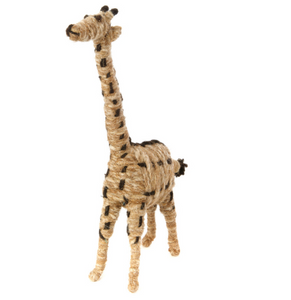 Ethiopian Brown Wool Giraffe Sculpture