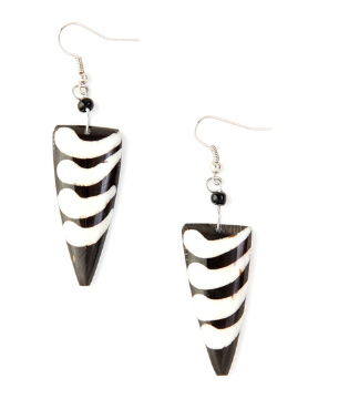 Kenyan Cow Bone Cirrus Earrings
