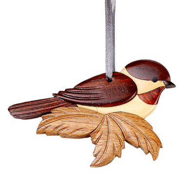 Chickadee Wooden Ornament