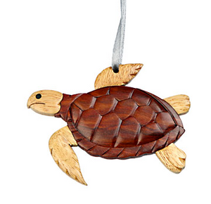 Sea Turtle Wooden Ornament
