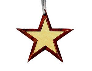 Star Wooden Ornament