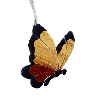 Butterfly II Wooden Ornament