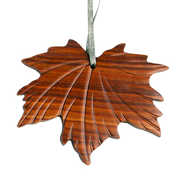 Maple Leaf Wooden Ornament