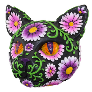 Sugar Skull Daisy Cat Bank