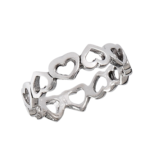 Endless Inverted Heart Ring