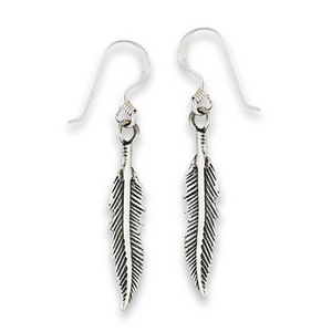 Sterling Silver Small Feather Earring