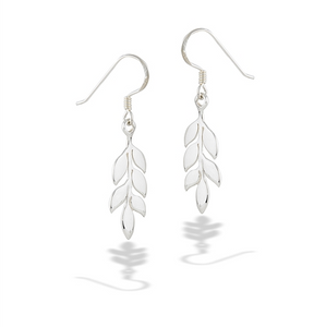 Sterling Silver High Polish Leaves Earring
