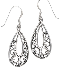 Elegant Swirl Cutout Earrings