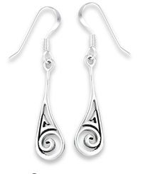Swirl Balinese Teardrop Earrings
