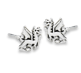 Sterling Silver Dragon Stud