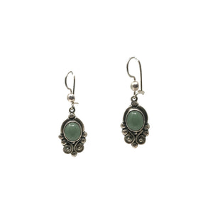 Paola Green Jade Silver Earrings