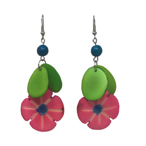 Tagua Flower Earrings