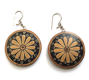 Large Disc Gourd Earrings