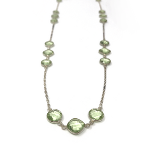 "32"" Faceted Green Sapphire necklace"