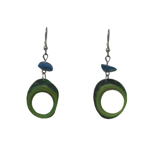 Tagua cut out earrings