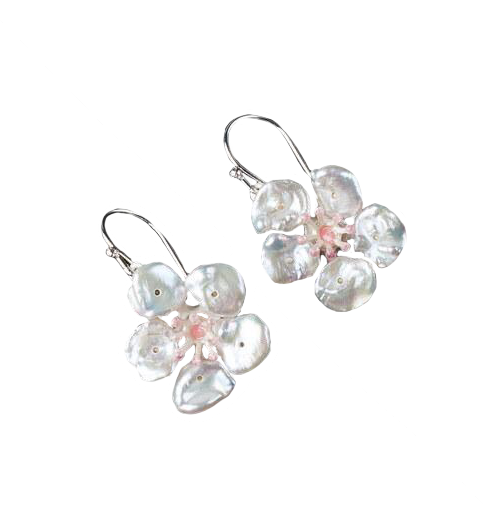 Cherry Blossom Wire Earrings