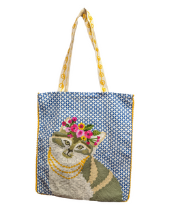 Luxuriant Princess Cat Tote Bag